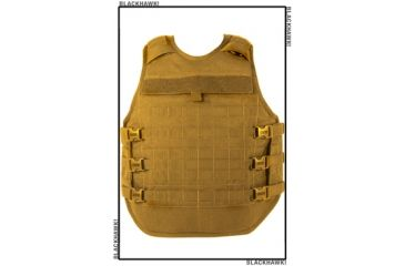 Blackhawk STRIKE Cutaway Carrier Slick Tactical Armor Carrier Vest, Coyote Tan, Extra Small 32V400CT-CTS