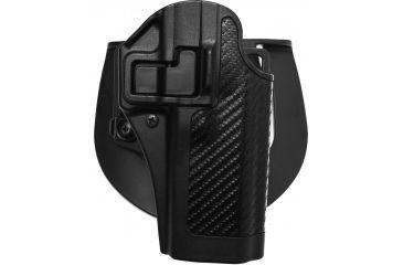 Blackhawk SERPA CQC Belt Loop/Paddle Holster, Right Hand, Carbon Black - Taurus 24/7 OSS - 410019BK-R