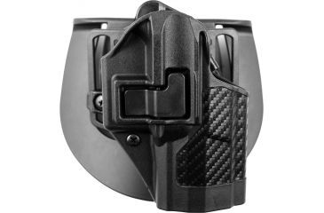 Blackhawk SERPA CQC Belt Loop Paddle Holster, Right, Carbon Black 410024BKR