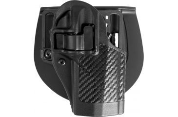 Blackhawk Serpa CQC Holster w/ BL & Paddle w/Carbon Fiber Finish