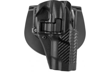 Blackhawk Serpa CQC Holster w/ BL & Paddle - Right- Carbon FiberFinish, Color - Black Ruger P85/89