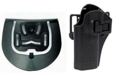 Blackhawk Serpa CQC Holster w/ BL & Paddle - Left Carbon FiberFinish Black
