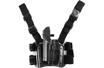 Blackhawk SERPA Tactical Level 3 Thigh Holster, Black, Left 430609BKL