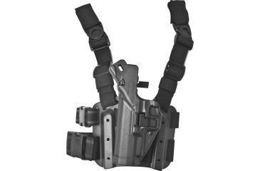 Blackhawk SERPA Tactical Level 3 Thigh Holster, Black, Left Hand - Springfield XD/XDM - 430607BK-L