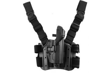 Blackhawk SERPA Tactical Level 3 Thigh Holster, Black, Right 430609BKR