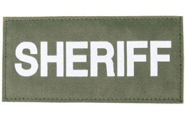 Blackhawk! White on Green 90IN06 Sheriff Patch