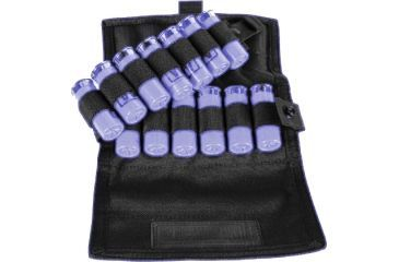 BlackHawk S.T.R.I.K.E. 12 round Vertical Shotgun Ammo Pouch, Speed Clip Version, Black