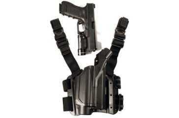 BlackHawk 430200BK-R Level 2 Light Bearing Tactical Holster for Pistols with M-3 / M-6 - TRL-1 / TRL-2 Lights