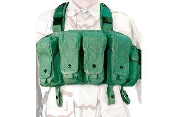 BlackHawk Tactical Commando Chest Harness - AK-47, M-16, and M-1 Magazines, Olive Drab - 55CO00OD