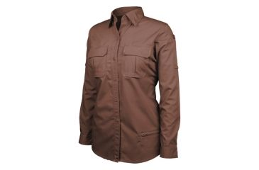 Blackhawk Women's Long Sleeve Tactical Shirt, Chocolate Brown - 2XL 92TS01CB-2XL