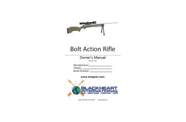 Blackheart Bolt Action Rifle Owner's Manual For Remington 700