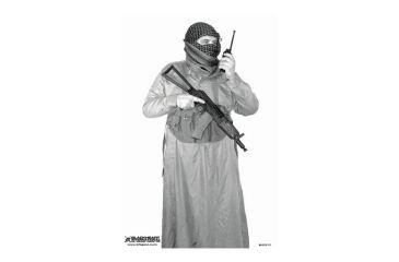 Blackheart Custom Global War On Terror Target Krinkov Gunner On Radio Measures 23x35 Inches 100 Pack