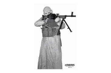 Blackheart Custom Global War On Terror Target PKM Gunner 2 Measures 23x35 Inches 100 Pack