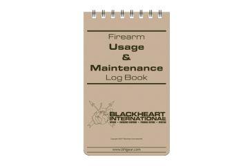 Blackheart Firearm Usage And Maintenance Log Book