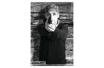 Blackheart Ultimate Assailant Targets Biker Chick Pistol Measures 23x35 Inches 25 Per Pack