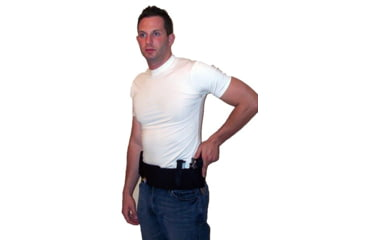 Blue Stone Original Belly Band Holster, Black, Universal, Left Hand, Large / 36-40 - B121-003-L