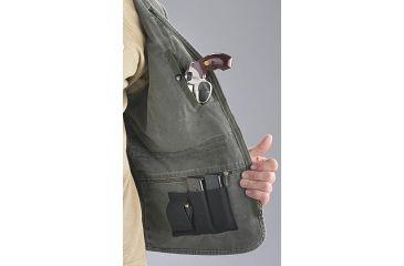 Blue Stone Safety, Concealment Vest, Olive, Large, C565-003-0