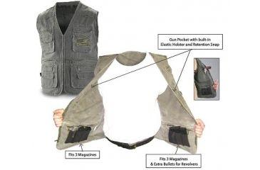 Blue Stone Safety, Concealment Vest, Olive, Medium, C565-002-0