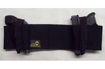 Blue Stone Safety, Western Belly Band Holster, Black, Medium, LH, B454-002-L