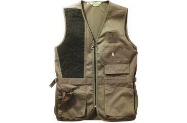 Bob Allen 240S Solid Shooting Vest - Khaki, Left Hand, Large - 30161