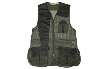 Bob Allen 285M Mesh and Leather Shooting Vest,Green,M 45010