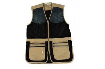 Bob Allen 290M Shooting Vest - Full Mesh Dual Leather Pads KHAKI M