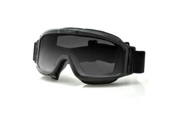 Bobster Alpha Interchangeable Goggles, Black Frame, Smoke & Clear Lenses BALP101