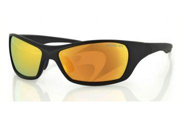 Bobster Bolt Sunglasses, Matte Black Frame, Mirror Anti-fog smoked EBOL001