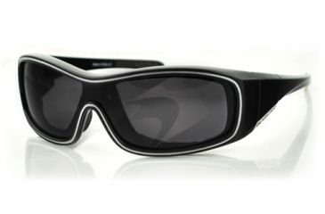 Bobster ZOE Sunglasses - Black Frame, Anti-Fog Smoked Lens BZOE101