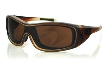 Bobster ZOE Sunglasses - Brown Fade Frame, Anti-Fog Brown Lens BZOE201