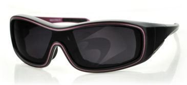Bobster ZOE Sunglasses - Black/Purple Frame, Anti-Fog Smoked BZOE401