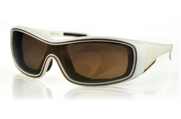 Bobster ZOE Sunglasses - Pearl Frame, Gold Mirror Brown Lens BZOE501