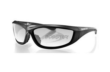 Bobster Charger Sunglasses - Black Frame and Anti Fog Clear Lens ECHA001C