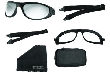 Bobster Echo Convertible Sunglass Goggles - Black Frame and Smoke Clear Lens BECH101