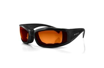 Bobster Invader Sunglasses, Black Frame, Orange Photochromic Lens BINV101O