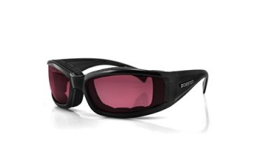 Bobster Invader Sunglasses, Black Frame, Rose Photochromic Lens BINV101R