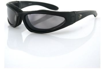 Bobster Low Rider II Convertible Eyewear, Black Frame and 3 Sets of Lenses ELR201