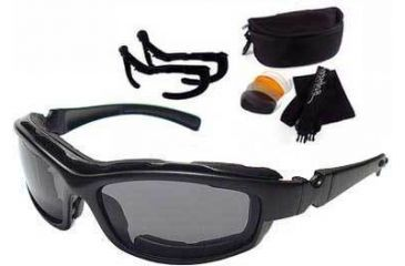 Bobster Road Hog II Convertible, Black Frame, 4 Lens Set BRH2001