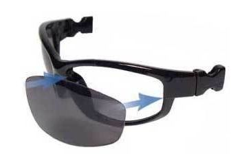 Bobster Road Hog Goggles/Sunglasses Polycarbonate RX Prescription Interchangeable Frame Front