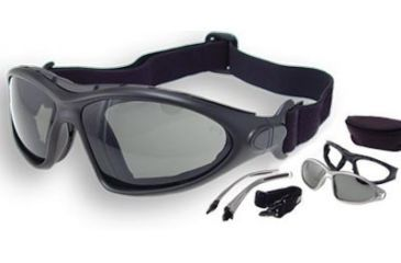 Bobster Road Master Goggles - Sunglasses with Black Frame, RX Prescription Lenses