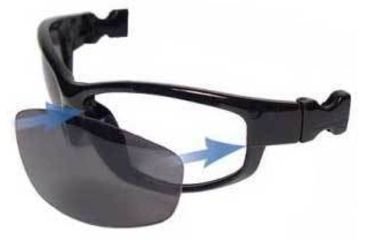 Bobster RoadHog-2 Goggles/Sunglasses RX Prescription Interchangeable Polycarbonate Frame Front