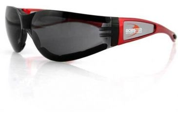 Bobster Shield 2 Sunglasses, Red Frame, Smoked Grey Lens ESH221