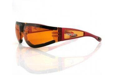 Bobster Shield2 Sun glass, Red Frame, Amber Lens, ESH223