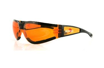 Bobster Shield II Sunglasses, Black Frame, Amber Lens, ESH202