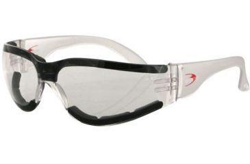 Bobster Shield III Sunglass with Clear Anti-fog Lens, ANSI Z.87, ESH302
