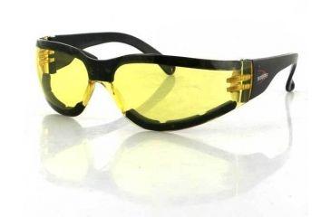 Bobster Shield-3 Sunglass, Yellow Lens, ANSI Z.87, ESH303