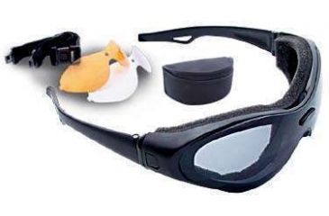 Bobster Action Eyewear Spektrax Convertible Goggles/Sunglasses w/ Black Frame, Interchangeable 3 Lenses Set BST0C1AC