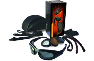 Bobster Sport & Street - II Interchangeable RX Prescription Lenses Black Frame Convertible Goggles - Sunglasses