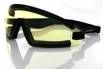 Bobster Wrap Around Goggle, Yellow Lens, BW201Y