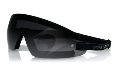 Bobster Wrap Around Goggles, Black Frame, Smoked Lens, BW201